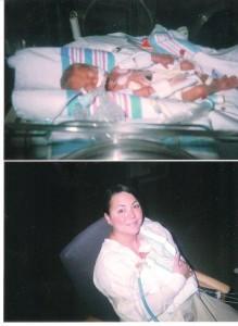 Colin (born at 26 weeks, 2lbs 7oz) and mom, Dawn