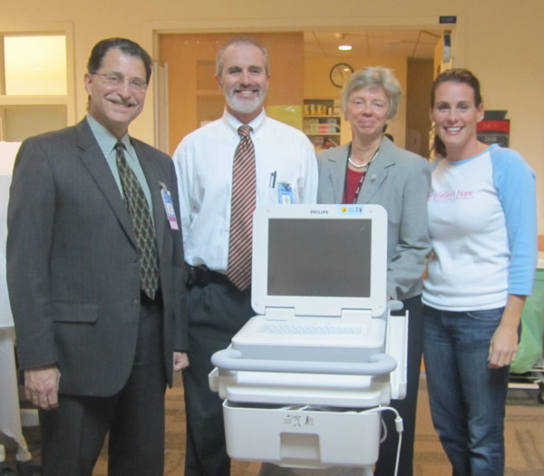 EKG Machine Donation - Dr. LaGamma, Dr. Golombek, Julie Larkin and Debra 2
