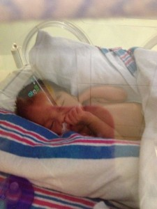 Baby Dominic in the NICU