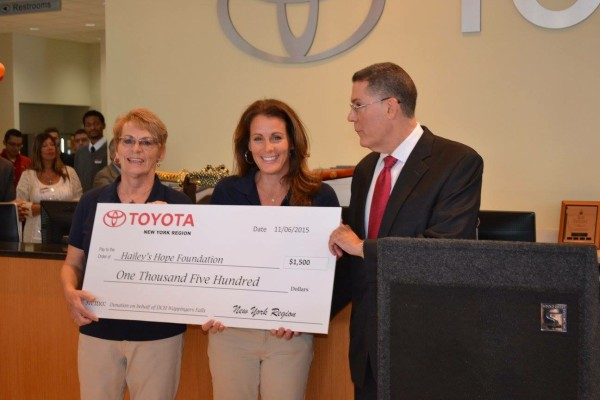 HHF Board members, Ann Siegel and Debra Randazzo, with Lee Burns, General Manager of DCH Wappingers Falls Toyota