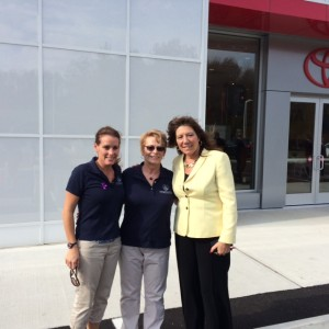 HHF Board members, Debra Randazzo and Ann Siegel, with New York State Senator Susan Serino at the Grand Re-Opening.