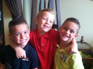 Christopher and Colin with big brother, Chase