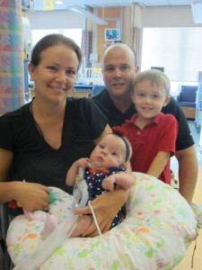 The Burns Family:  Laura, Tom, Declan and Erica