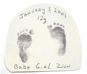 Hailey's footprints